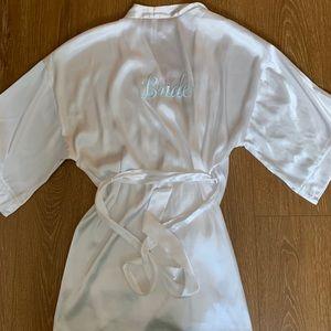 Silk bride robe